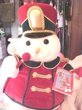 """1999  Snowden 22"""" Plush Musical Band Drum Major Leader Snowman Animated WORKING"""
