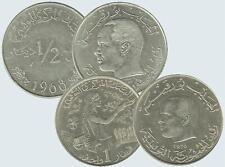 Tunesien  1/2 Dinar 1968 + 1 Dinar 1976 FAO  Münzlot UNC