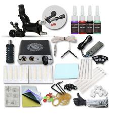 Starter Tattoo Kit Gun Machine Power Supply Set 4 Color Ink Needle