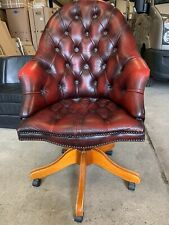 More details for chesterfield office swivel leather chair