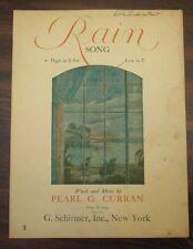 Rain Song sheet music by Pearl G Curran