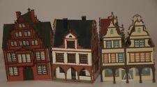 Vollmer Spur H0 drei Häuser mit Arkaden, eins davon als Doppelhaus