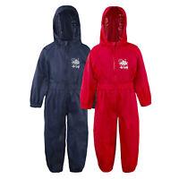 Boys Girls Unisex Childrens Waterproof Puddlesuit Rain All In One Set Zip Up