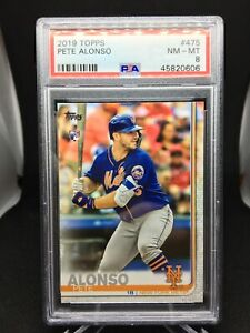 2019 Topps Baseball Series 2 Pete Alonso Rookie Base Card PSA 8 Mets