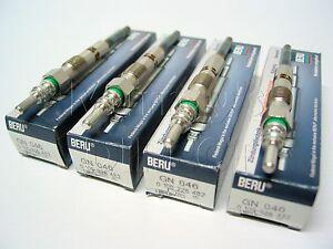SET of 4 BERU OEM Glow Plugs VW T5 Transporter Camper Van 1.9 TDI AXB AXC Engine