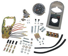 LATE STYLE DASH KIT 1:1 SPEEDOMETER FOR HARLEY 47-90 SOLID MOUNT & FLAT SIDE