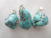 Beautiful Design Howlite Turquoise Very Rare Collectible Pendant Handmade