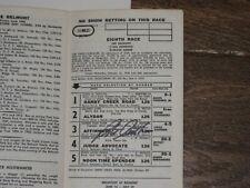 Autographed 1978 Belmont Stakes Program By Jockey Steve Cauthen