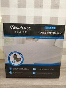 Beautyrest Black Dual Zone Heated Mattress Pad 20 Heat Settings Cal King New ✅