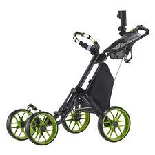 CaddyTek CaddyCruiser ONE v3 Folding 4 Wheel Golf Buggy / Push Cart - Lime