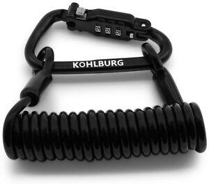 KOHLBURG Zahlenschloss 140cm lang für die Tasche, Kabelschloss Skischloss robust