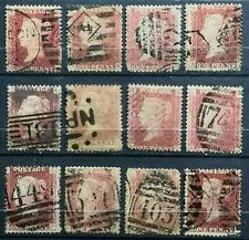 Great Britain>1854-64>Used,Colored Control Letter in Corners>Queen Victoria.