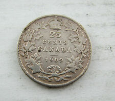 1909 Canada 25 cents silver a nice coin