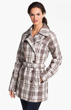 NWT THE NORTH FACE Maya Trench Jacket Size XL Weimaraner Brown Plaid Coat (A3GU)