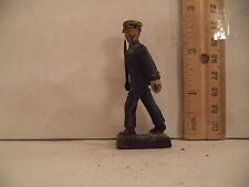 Elastolin Composition German Blue Uniform Toy Soldier Marching with Sword 1940s