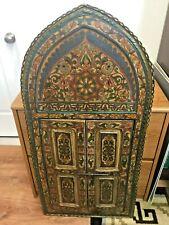 Moroccan Turkish Style Door Wall Mirror Hand Hammered Hardware Mirror Intact