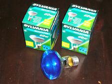 Restposten Glühlampen E27 Reflektor 80mm blau R80 60W 2 Stück Sylvania