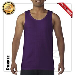 Gildan Tank Top Ultra Cotton Mens Workout Fitness gym Shirt Solid Color  5200