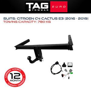 TAG Euro Towbar Fits Citroen C4 Cactus 2016 - 2019 Towing Capacity 780Kg 4x4 4WD