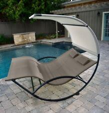 Doble Césped de Jardín vivere silla mecedora tumbona Relaxliege cubierta
