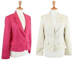 BCBG Max Azria Women's Linen Blazer Jacket, Business Wear $168 ICF42677