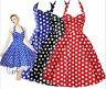 AU SELLER Cotton 50'S Vintage Rockabilly Retro Swing Pinup Polka Dot Dress dr186