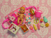 Mattel Barbie Doll Accessory Lot BABY CHRISSY KRISSY CRISSY Blonde Accessories