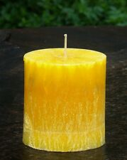 90hr DAFFODIL FIELDS Relaxing Spa Scent OVAL PILLAR CANDLE Free Shipping/postage