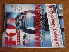 $$$ Revue F1 Racing N°30 RaikkonenTrulliCoulthardProst AP04IrvineBrawn