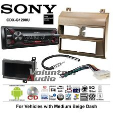 Sony CD Player Biege GM Truck Stereo Radio Install Package Harness Antenna