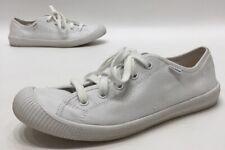 Palladium Lace Flex Womens White Canvas Low Top Sneakers Size 8