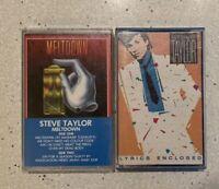 Lot of 2 Steve Taylor cassette tapes - Meltdown & On The Fritz CCM
