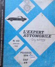 Revue technique PEUGEOT 504 + DAF 44 RTA EXPERT 40 1969