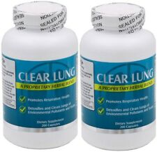 2 Bottles NU-Health CLEAR LUNG 200 CAPSULES/Bottle Lung Cleansing Formula