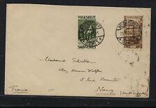 Saar  120, B16  on  cover  to  France   1930     KL0702