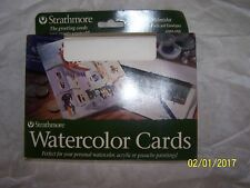 Strathmore Watercolor Cards 140lb 10 cards & 10 Envelopes New in Box