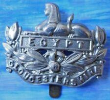 Badge- VINTAGE Gloucestershire Regiment Cap Badge (WM, ORG*) Slider