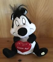 "Valentine's Day Pepe Le Pew  Looney Tunes TALKING plush Skunk 9"" That's Amore"