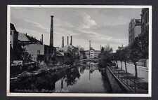 106557 AK Crimmitschau Sa. Pleiße Brücke Fabrik 1937