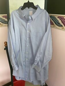 Brooks Brothers Makers Men's Blue Long Sleeve Size 20-5. RARE FIND