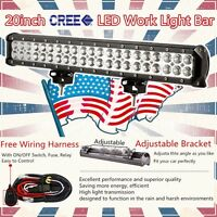 20Inch 126w CREE LED Light Bar Spot Flood Work Lamp Boat UTE Driving 4WD ATV SUV