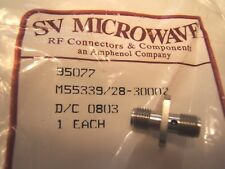 SV MICROWAVE RF SMA MIL SPEC CONNECTOR M55339/28-30002. F TO F,PANEL MOUNT  NOS