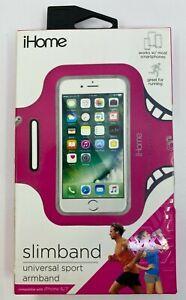 iHome Slimband Sport Armband Running Jogging Universal iPhone 6/7 Samsung Pink