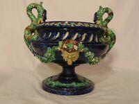 Antique 19th Majolica Planter Jardiniere Griffon Sea Serpent Satyr Hugo Lonitz G