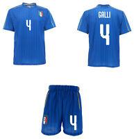 Completo Italia Galli Maglia + Pantaloncini FIGC  Mondiali 2019 femminile