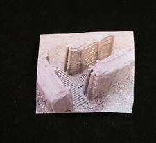 """MGM 070-063 1/72 Resin WWII Battle Trench Wall Lining for """"T"""" Section"""