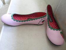 Funtasma youth girls PINK STRAWBERRY Flats SHOES Sz 6M NEW Pink w red strawberry