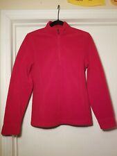 Women's L.L. Bean Small Fleece Quarter Zip Red
