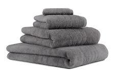 Betz Juego de 4 toallas DELUXE 100% algodón de color gris antracita