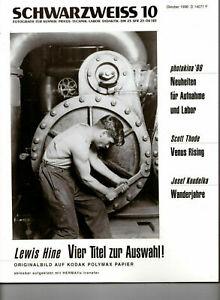 Schwarzweiss Fotografie - Zeitschrift 10/1996 Fotokunst Fotozeitschrift